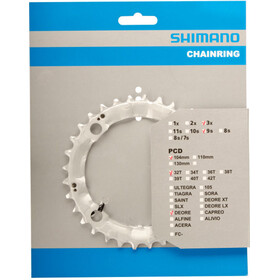 Shimano Deore FC-M510 Chain Ring 104 mm, silver